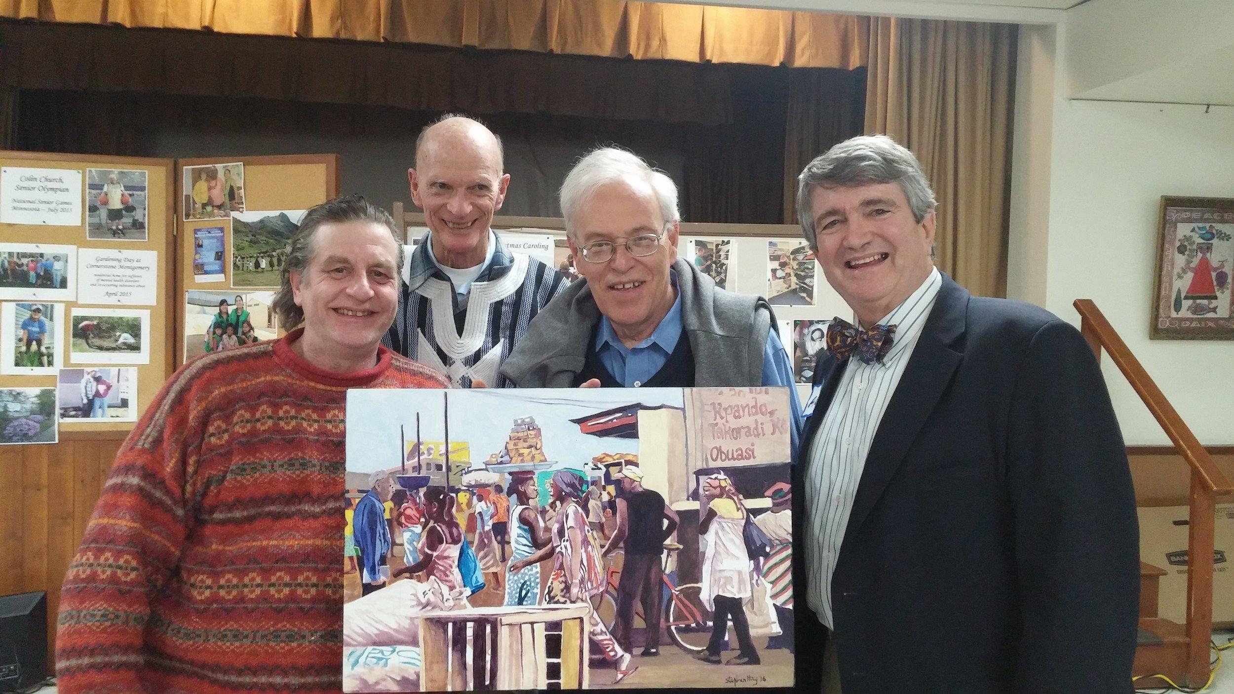 Dan Steve Dr. Marti, Dr. Al presenting painting.jpg