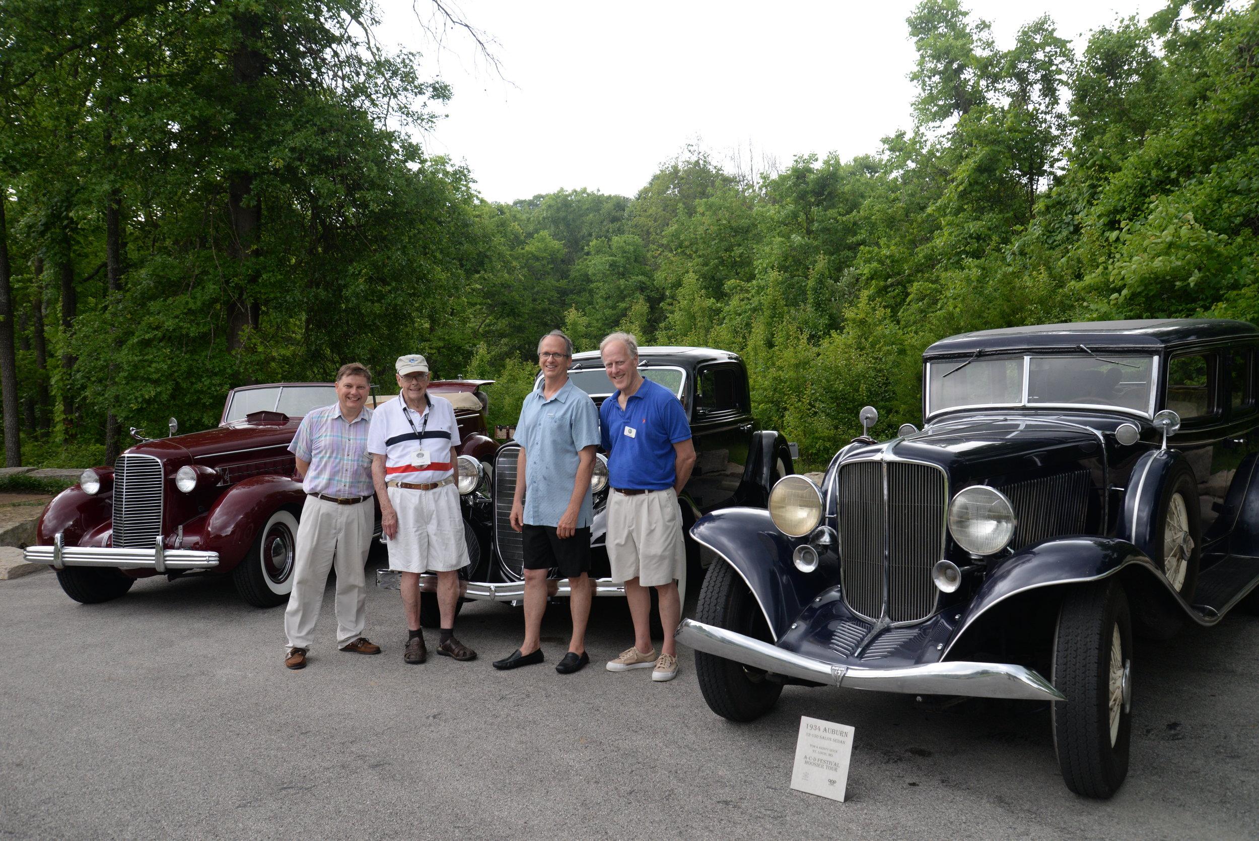 Spirit Region members, l-r Todd Tobiasz, Bob Radel, Bill Mehard and John Lowell