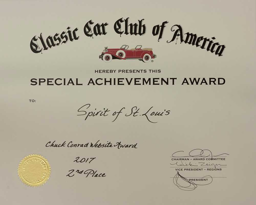 Chuck Conrad Website Award, 2nd Place -2017