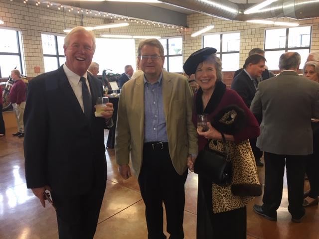 Keynote speaker Allen Strong (center) and wife Nancy along with Larry Hassel