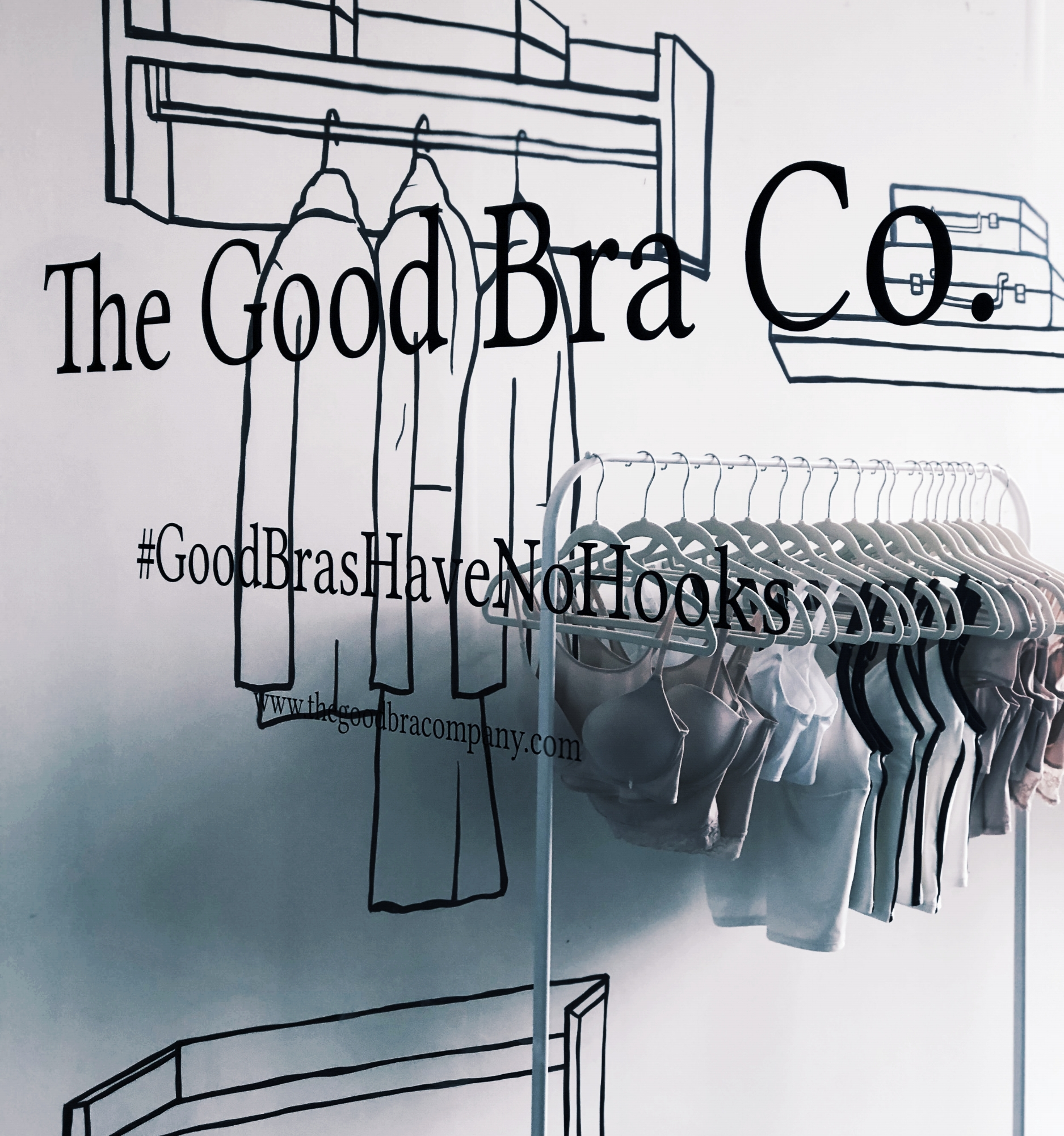 Mural Art for The Good Bra Co. at The Pulse in Repulse Bay.