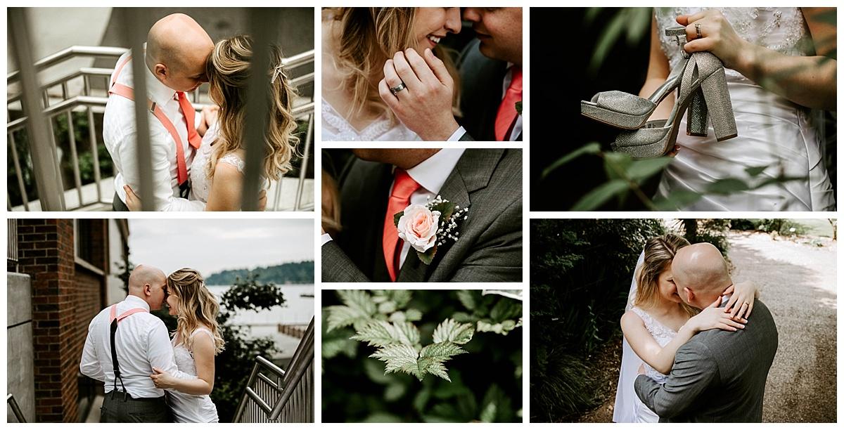 bride and groom Everett Washington