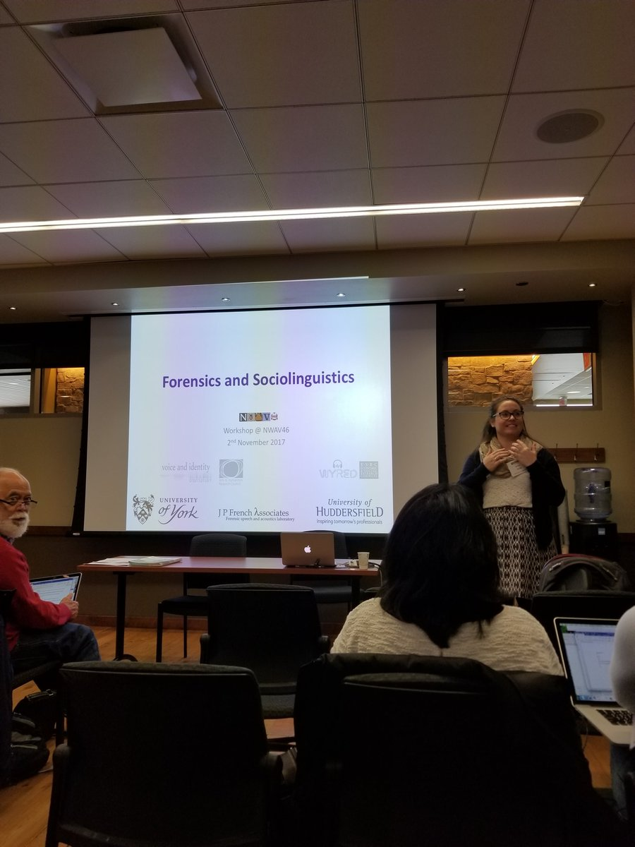 Erica introduces her session at NWAV