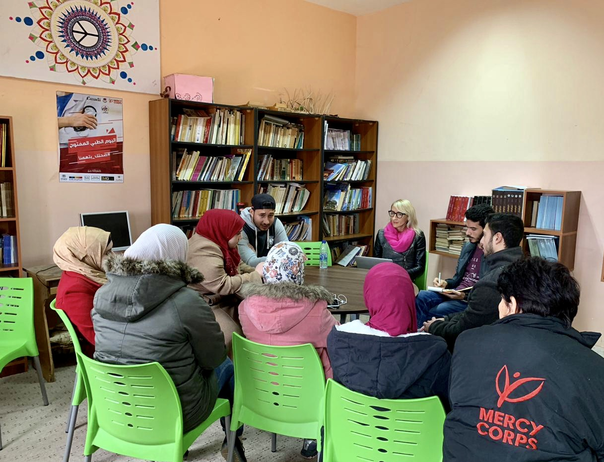 One of the first planning session for the 2019 Summit with youth in Ajloun, Jordan. December, 2018.