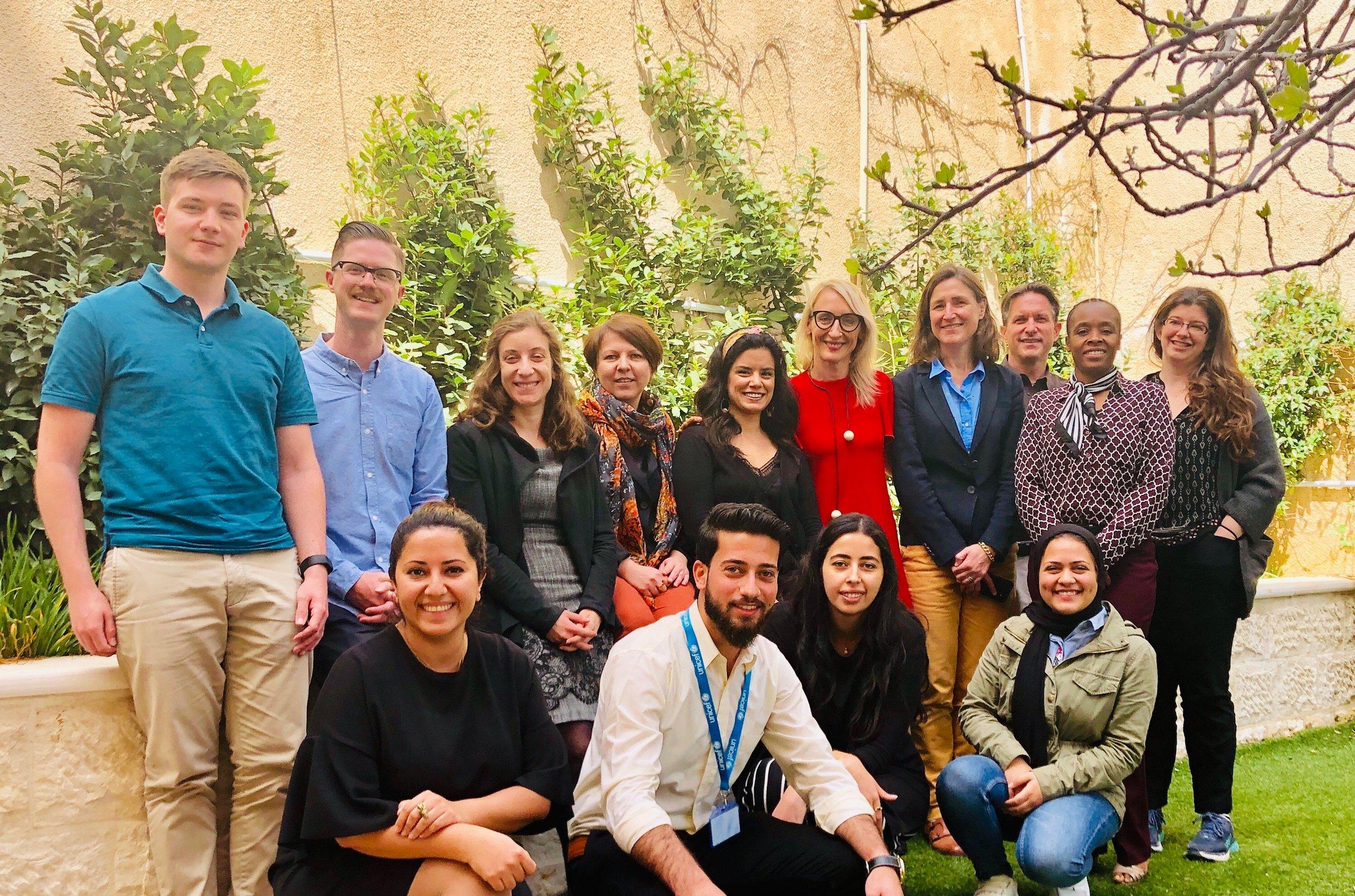 NLG Tech Summit Steering Committee members after a Steering Committee meeting in April, 2019.