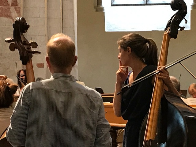 A pensive double bass section!