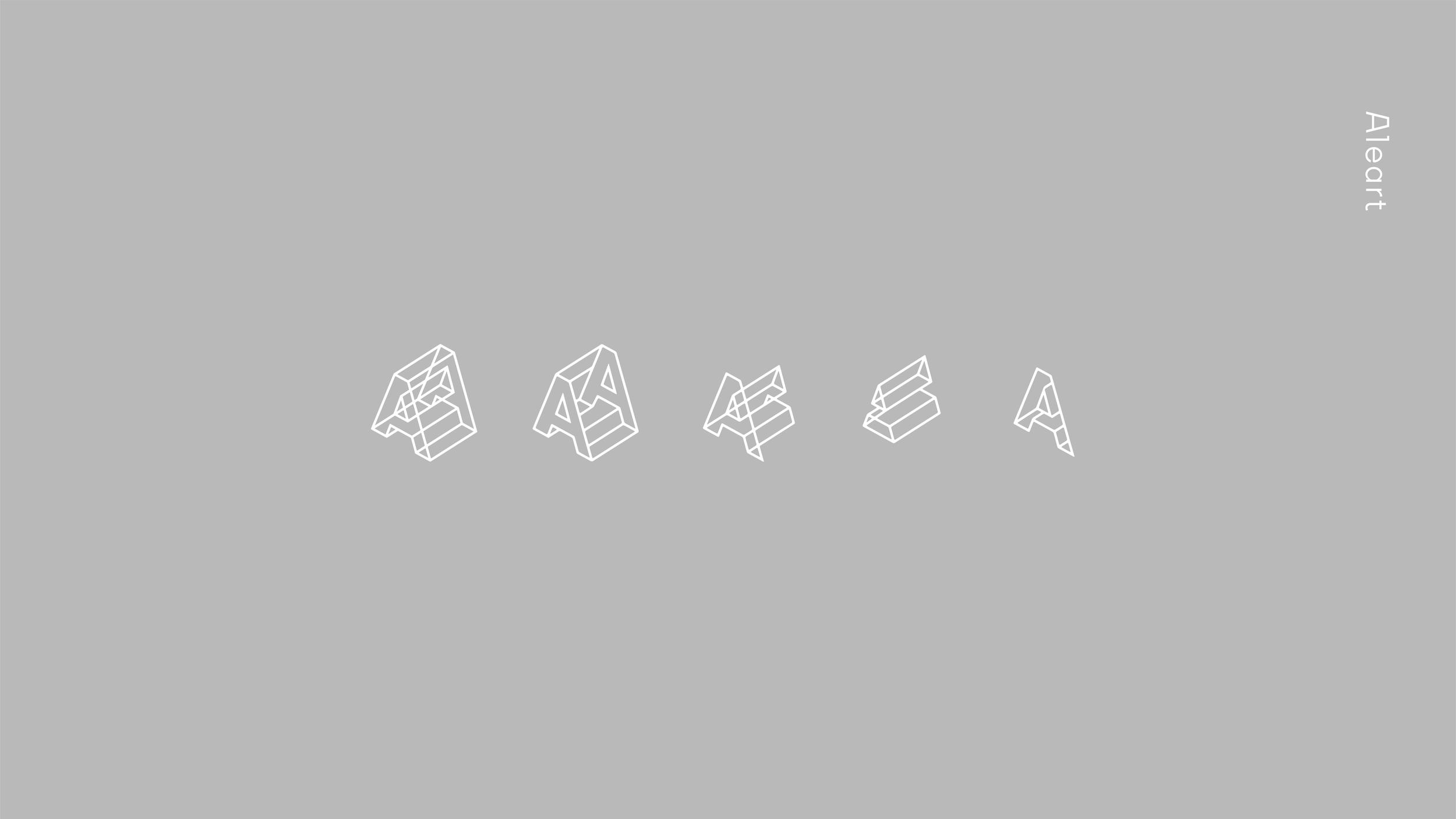 Aleart  Exhibition design company's identity