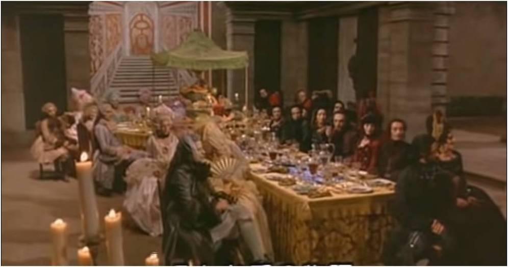 14. F.Fellini, Il Casanova di federico Fellini, 1976, La cena del Gobbo Du Bois.jpg