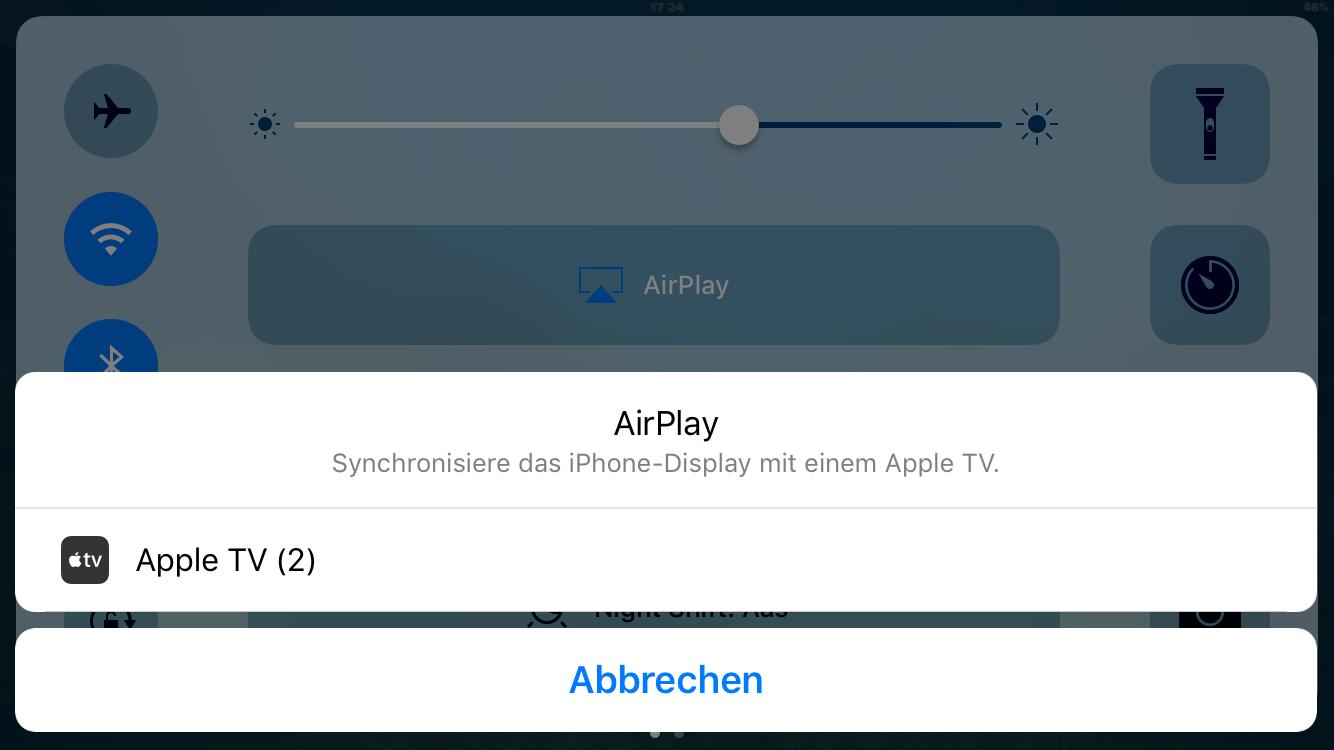 Streaming auf den Fernseher via Airplay und AppleTV
