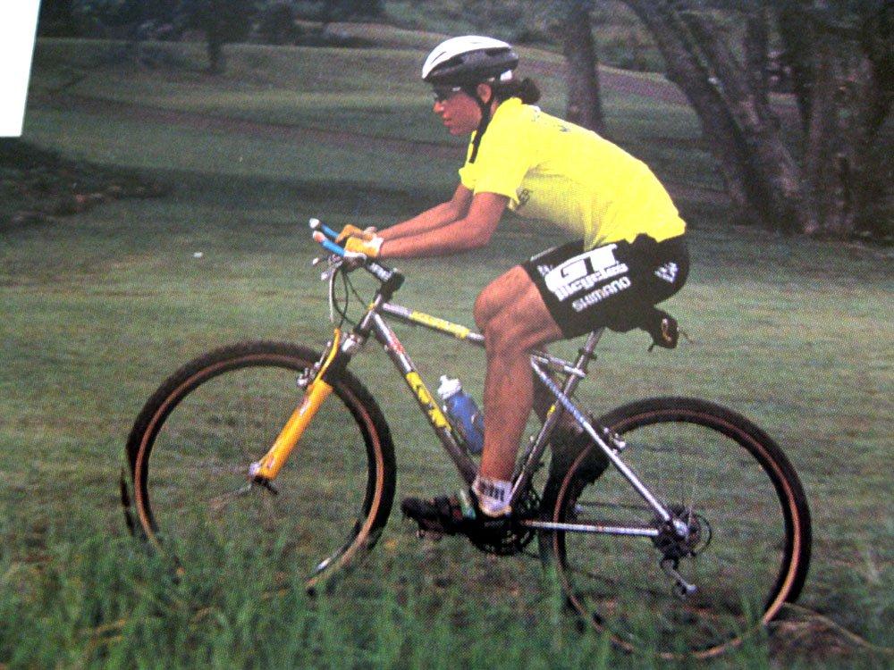 Juli Furtado in den 90ern auf einem GT Zaskar!  Quelle