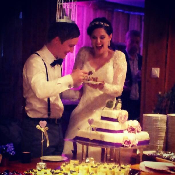 Foto: Venn av brudeparet