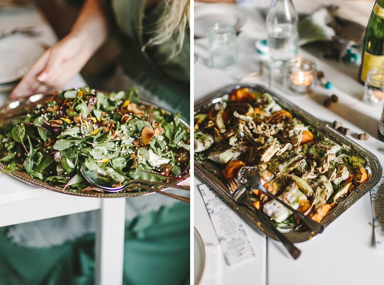 Vegetarmat og fisk er gode og miljøvennlige alternativer til kjøtt og minst like festlig! Foto:  Moment Studio