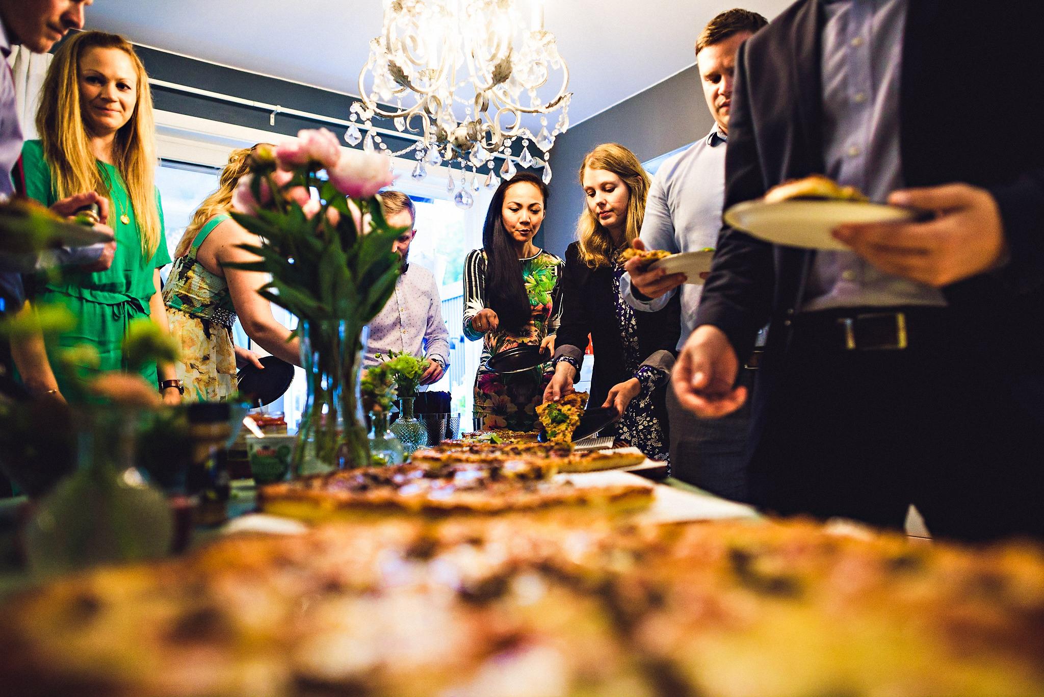 Hvem sier at du ikke kan ha pizza i bryllupet ditt? Foto:  Eirik Halvorsen