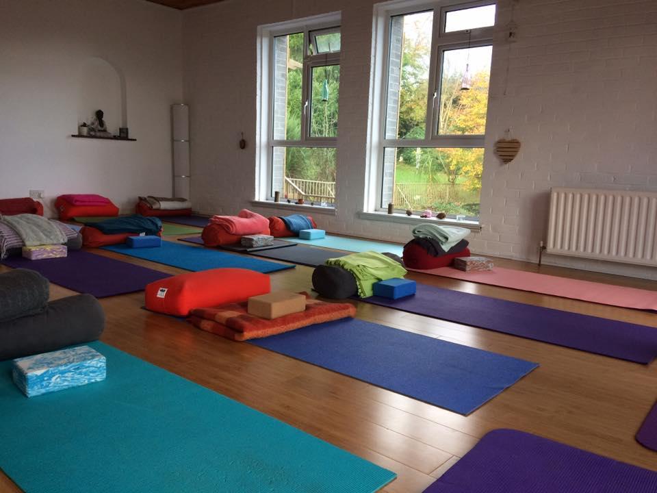 The beautiful yoga room