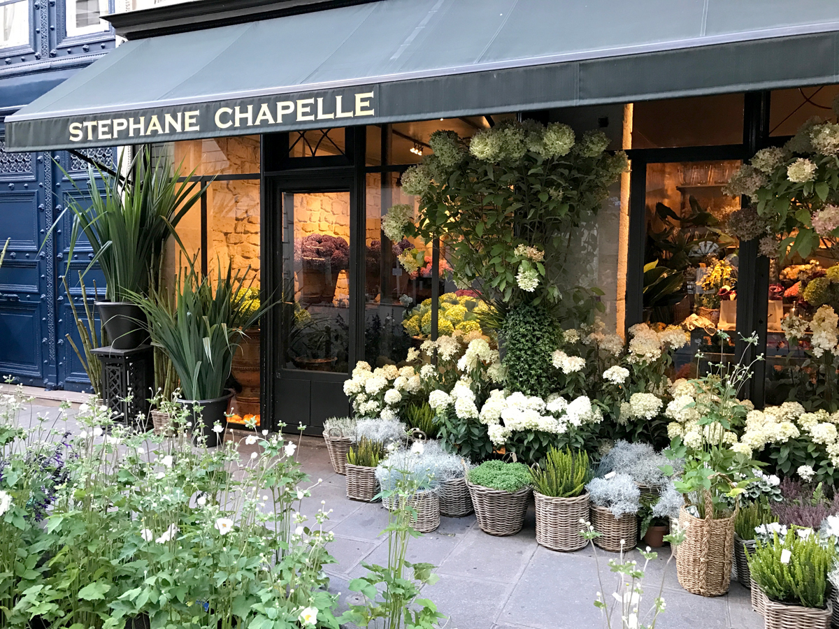 This gorgeous flower shop outside our front door was a nice perk!
