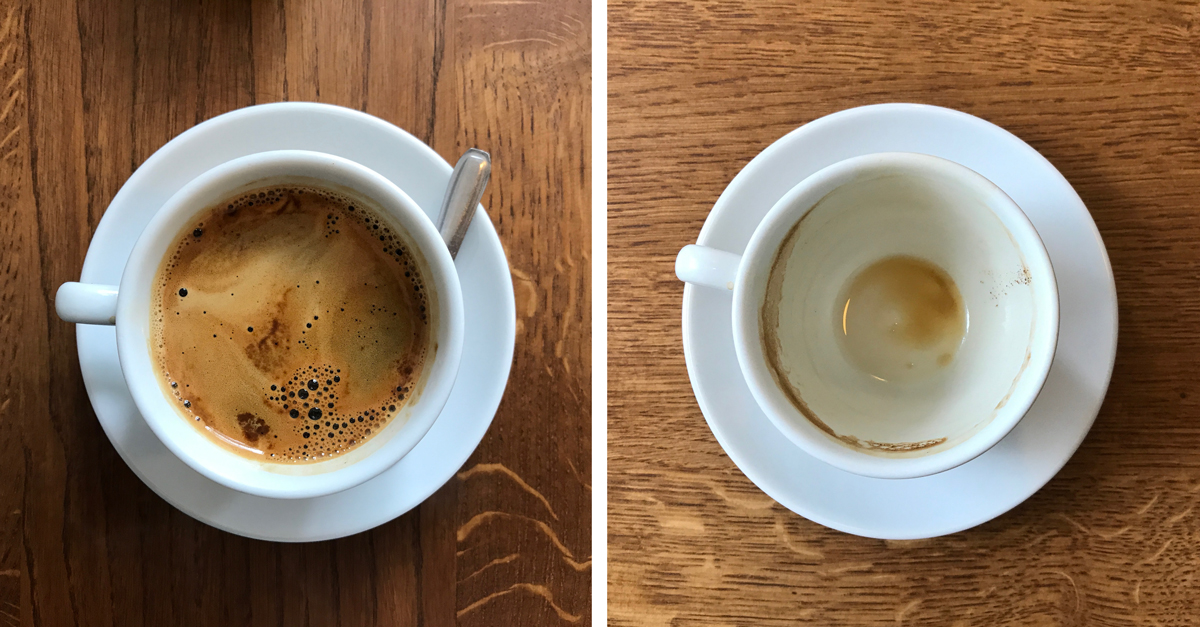 Broken Arm doubleshot - before and after.