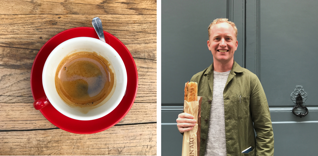 Local staples - espresso and baguettes!