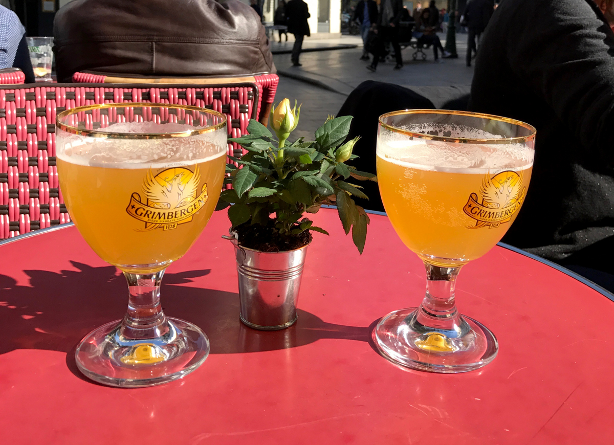The Grimbergen Blanche seems to have been engineered specifically to drink on a sunny day while people watching from a cafe table.