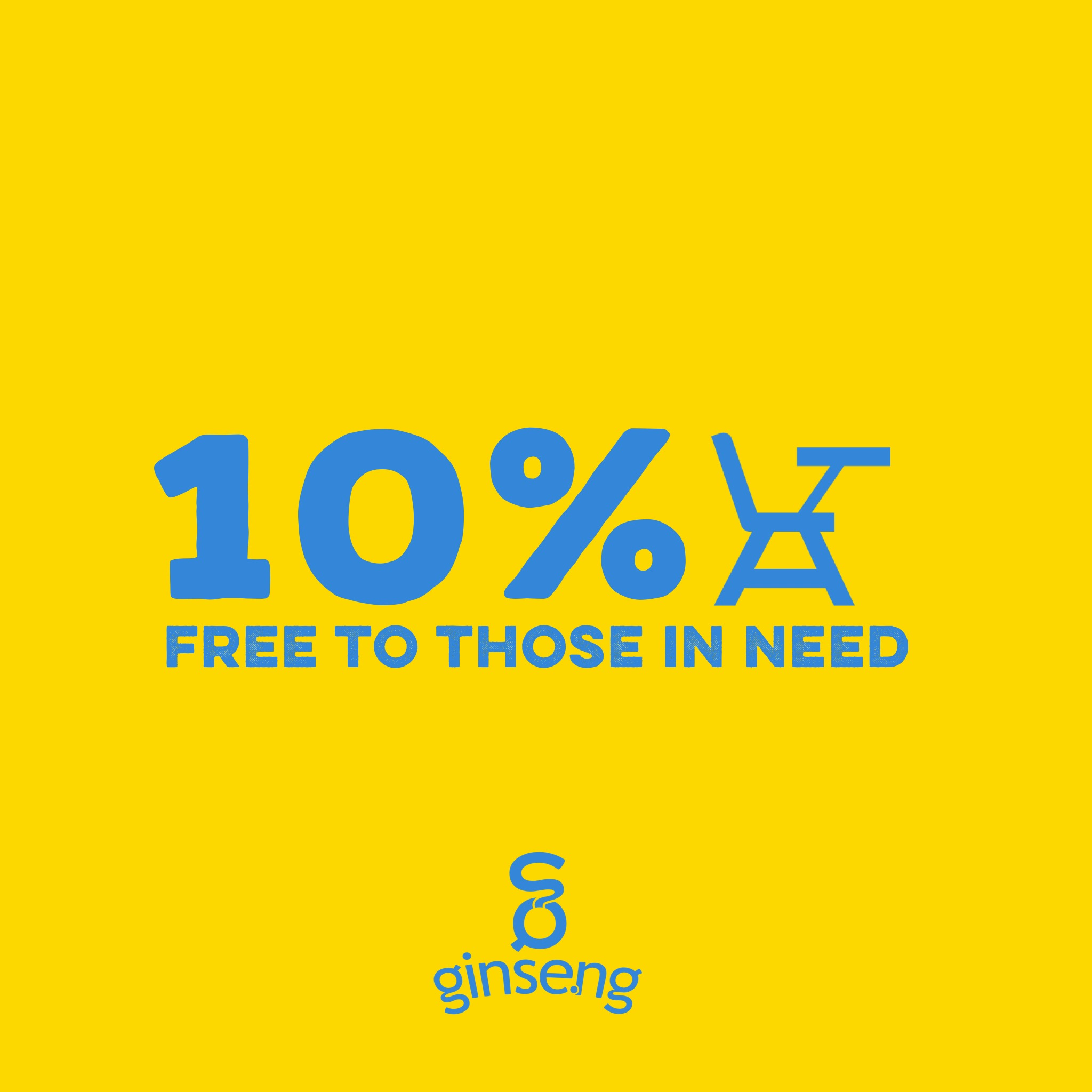 Social Enterprise: 10% Free to Those in Need