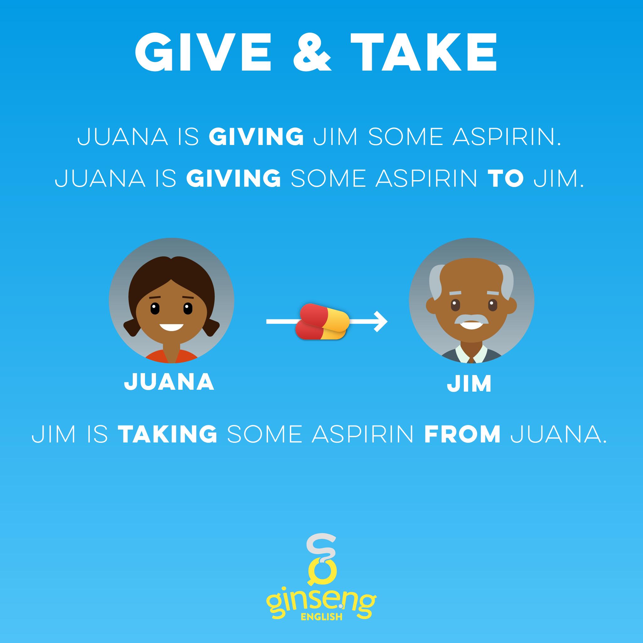 Give and Take English Verbs