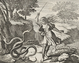 Tiresias was punished with his gender change for striking the serpents