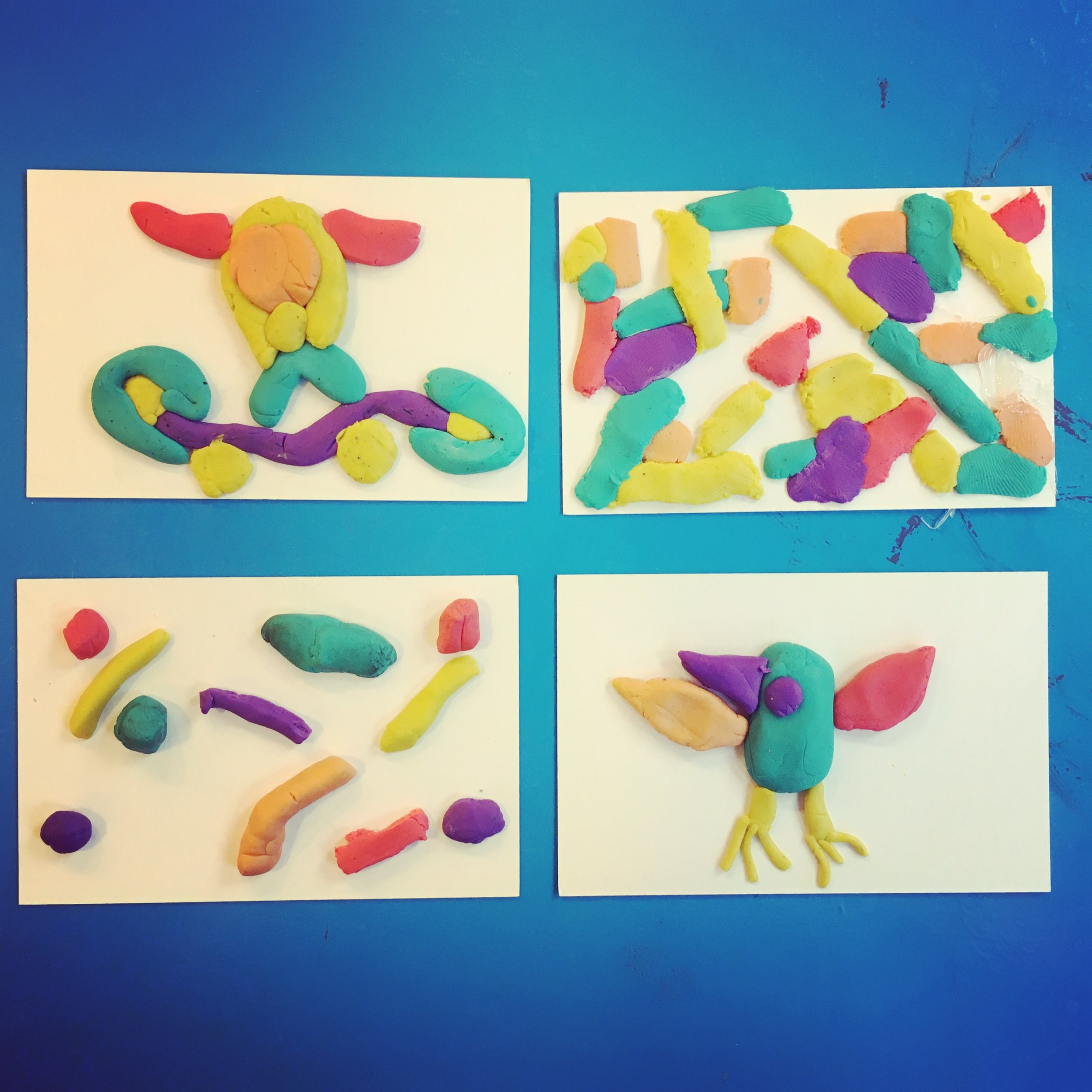 Discover & Create - I usually offer a small ice-breaker at the beginning of classes whilst we wait for everyone to arrive and get settled - these plasticine doodles were too nice not to photograph.