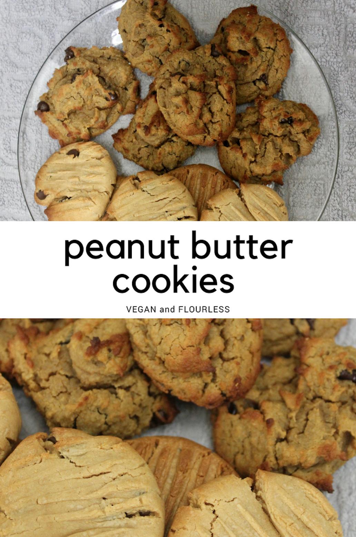 Vegan and flourless peanut butter cookies