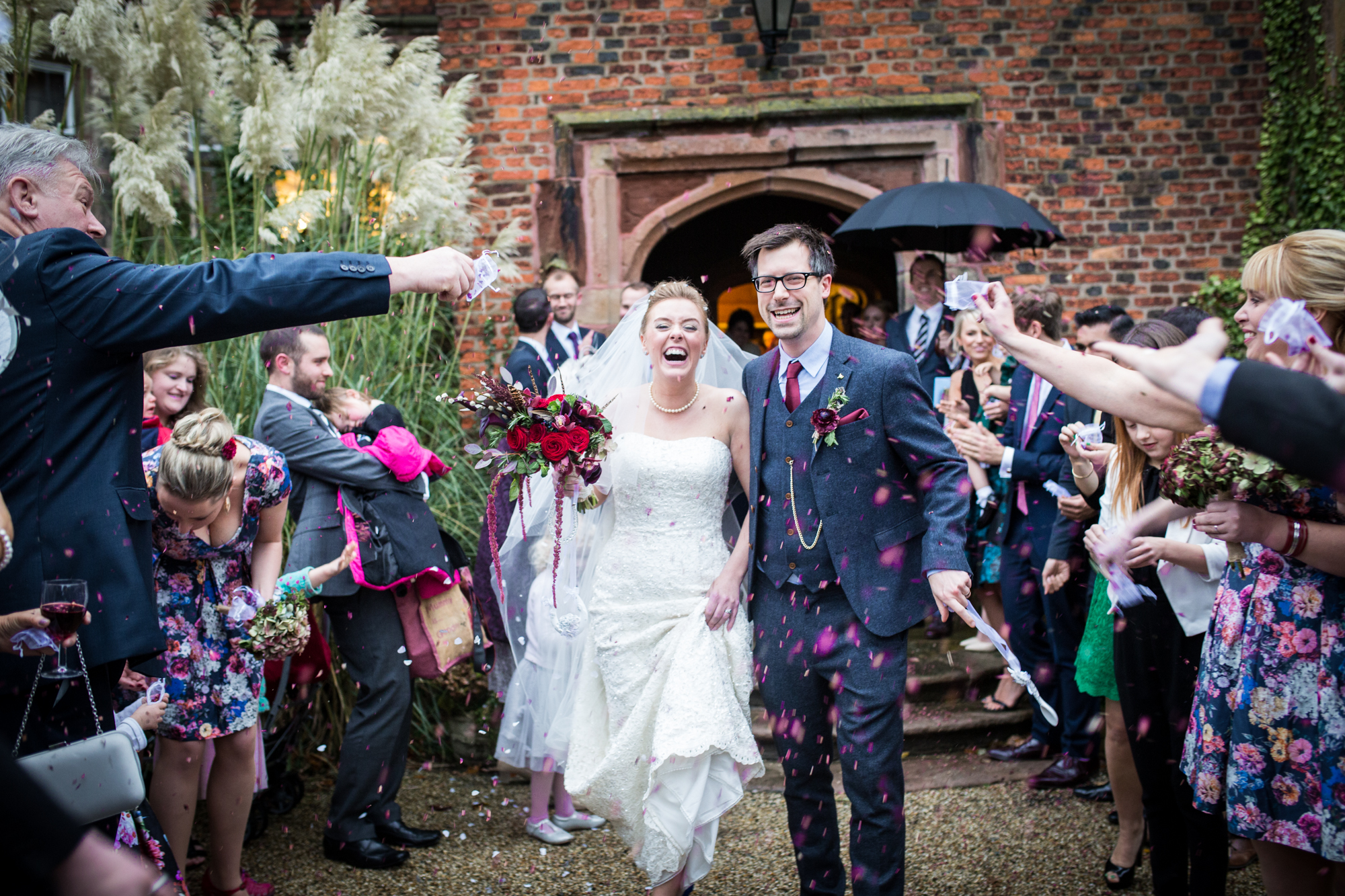 confetti wedding heskin hall