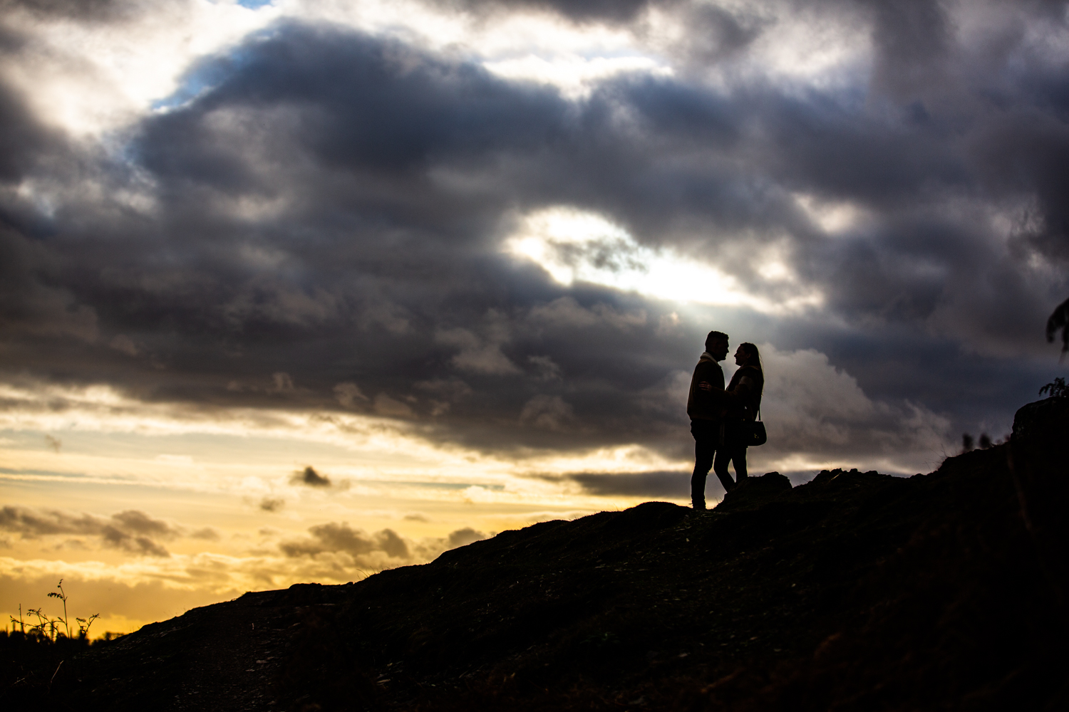 I love a silhouette image - look at that sky!