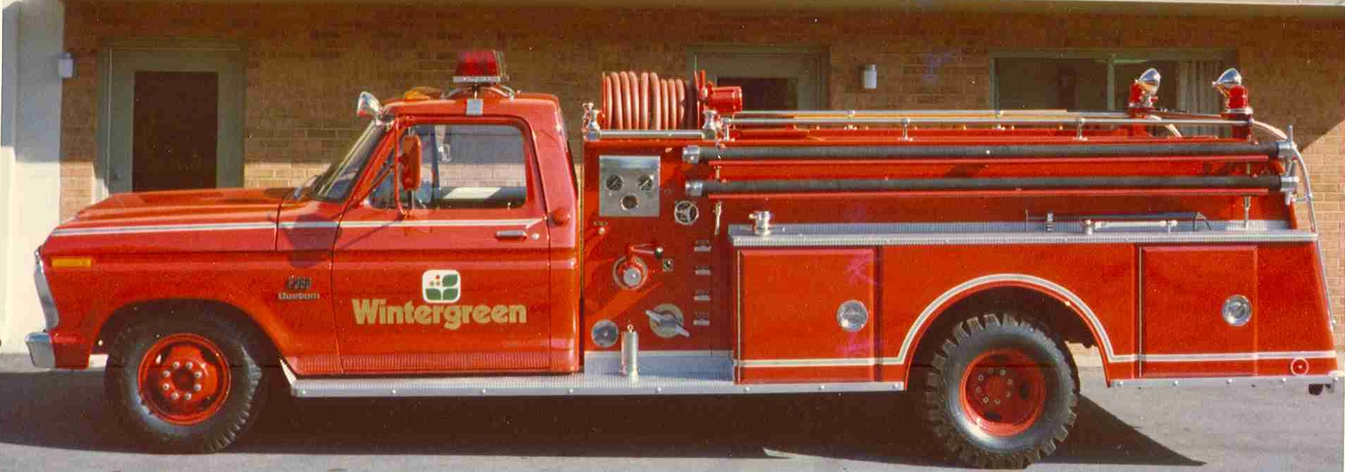 Wintergreen's first fire engine