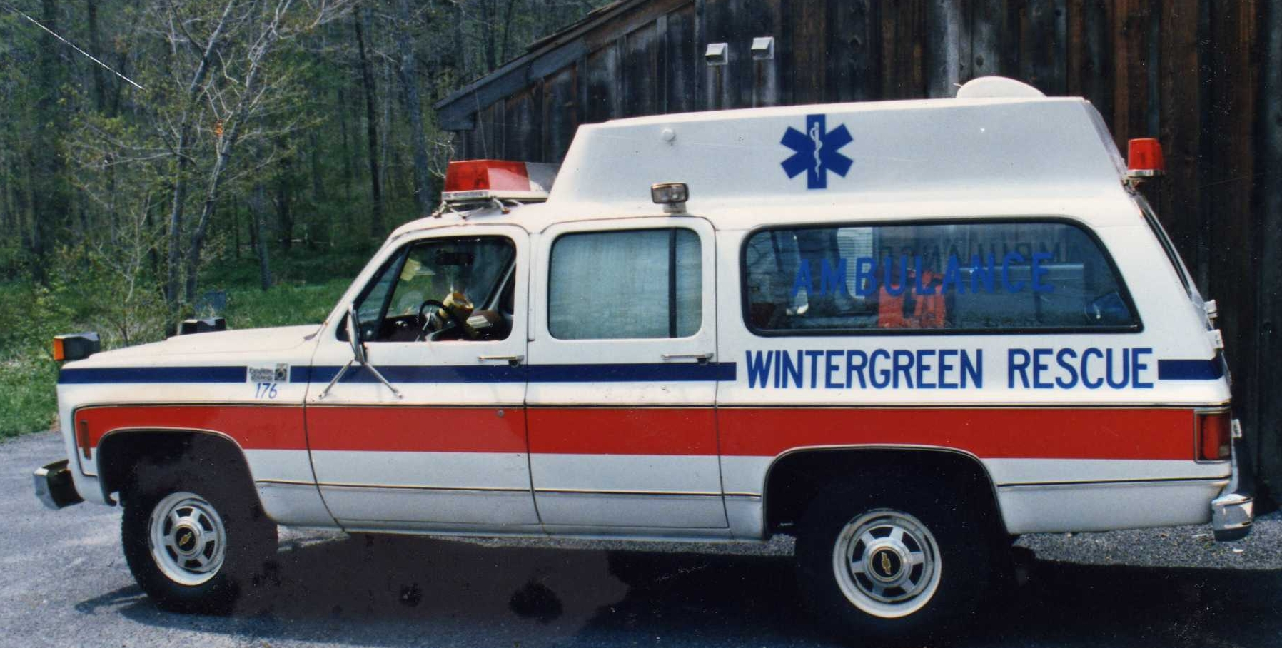 One of the first rescue transports at Wintergreen