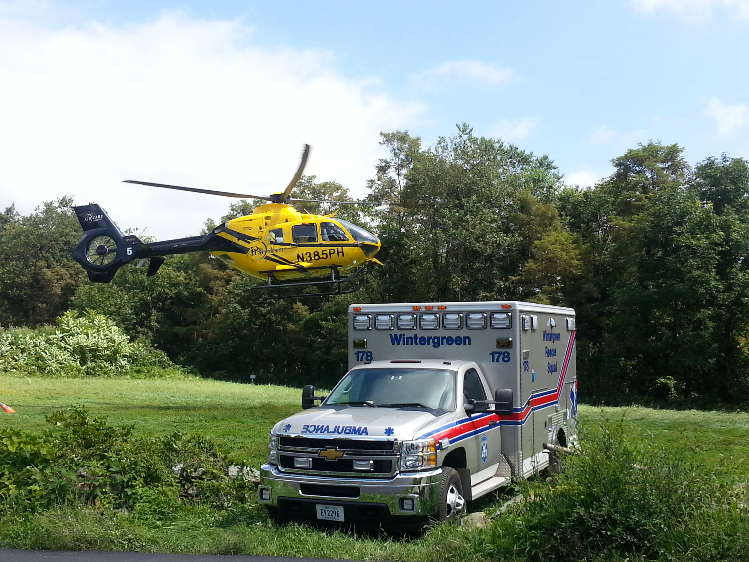 The Reeds Gap landing zone is one of four established landing zones utilized by Wintergreen Fire & Rescue.