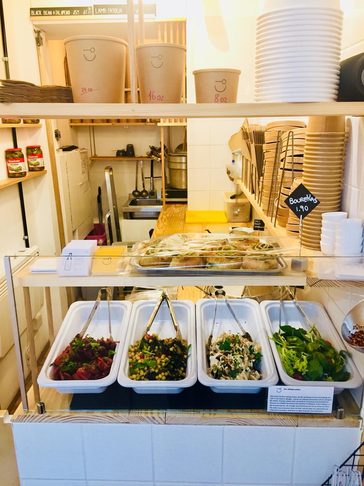 Salad selection at Kingly.
