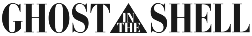 Logo of the 1995 film   Ghost in the Shell .  Courtesy of Wikimedia Commons , in the Public Domain.