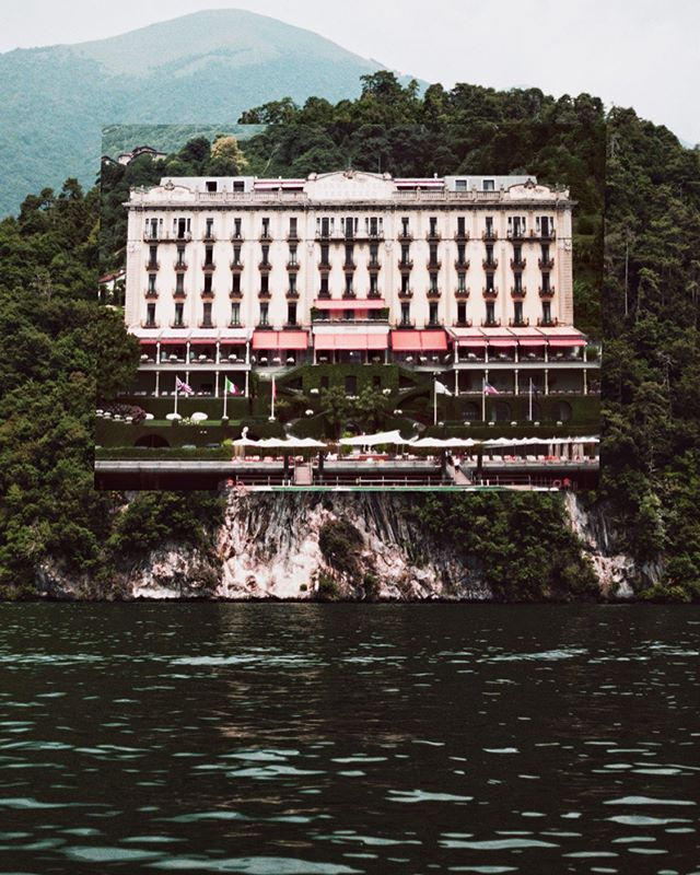 The Grand Hotel Tremezzo  Two 35mm film photos stacked
