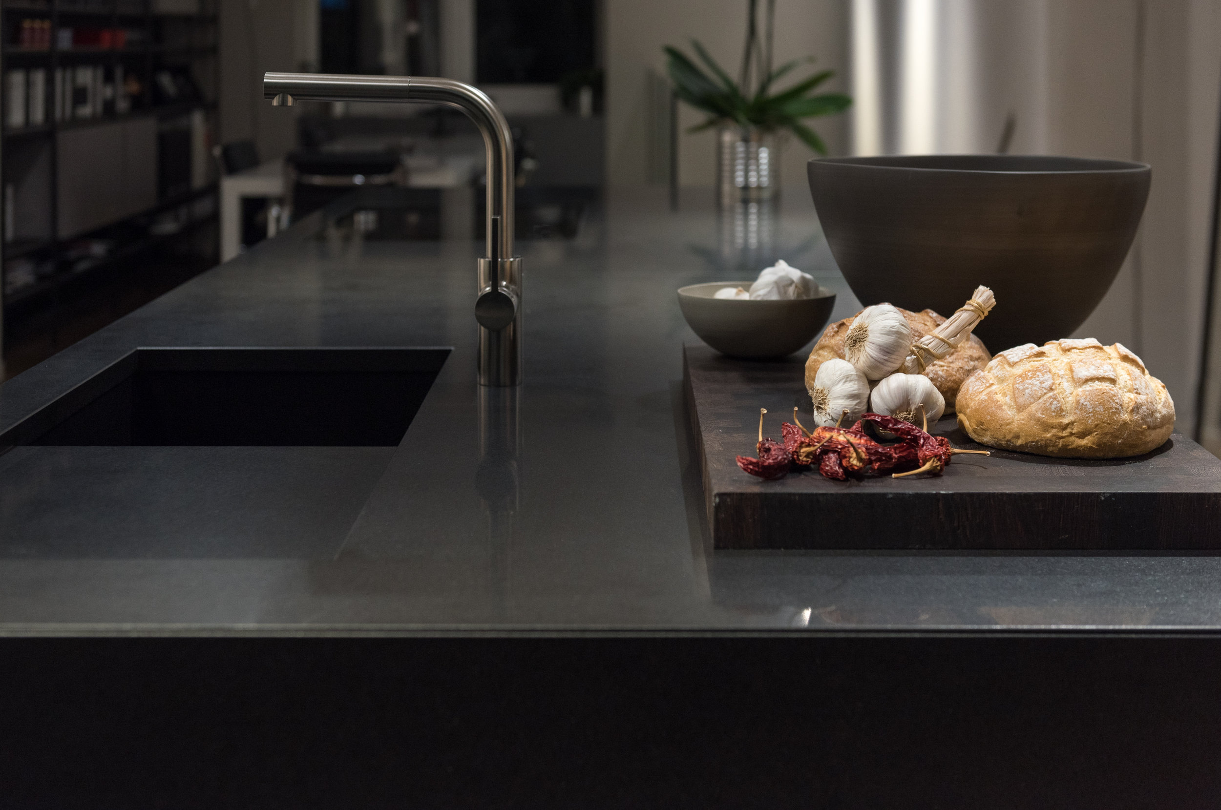 Quartz Surfaces - Until recently quartz was seen as a luxury kitchen surface, but the development of composite surfaces is opening the possibility of natural stone as an option for both kitchen and bathroom surfaces.