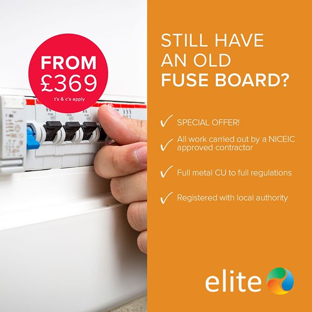 Ensure your fuse board is fitted by an NICEIC registered engineer!