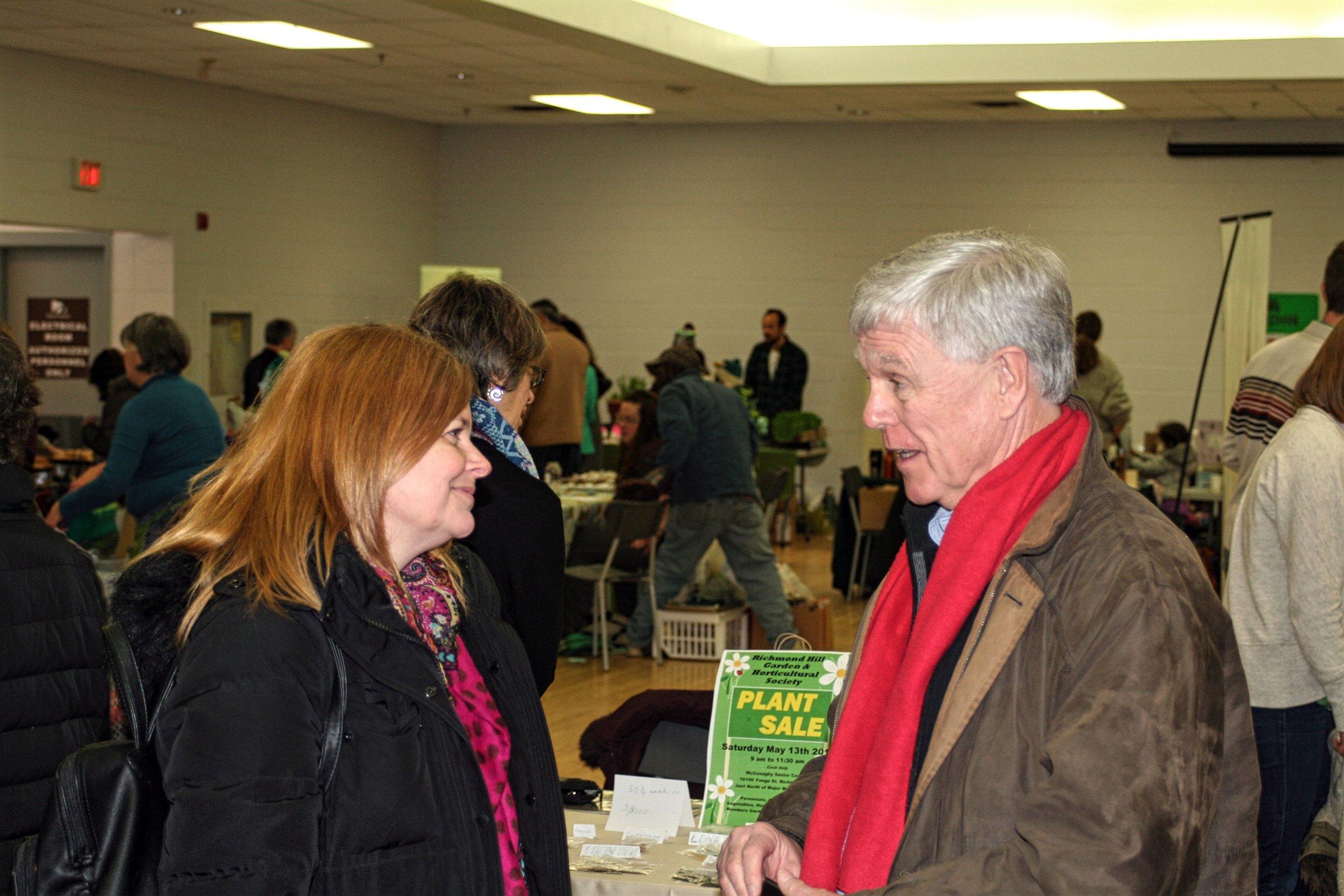 Enjoyed a chat with Aurora Mayor Geoffrey Dawe