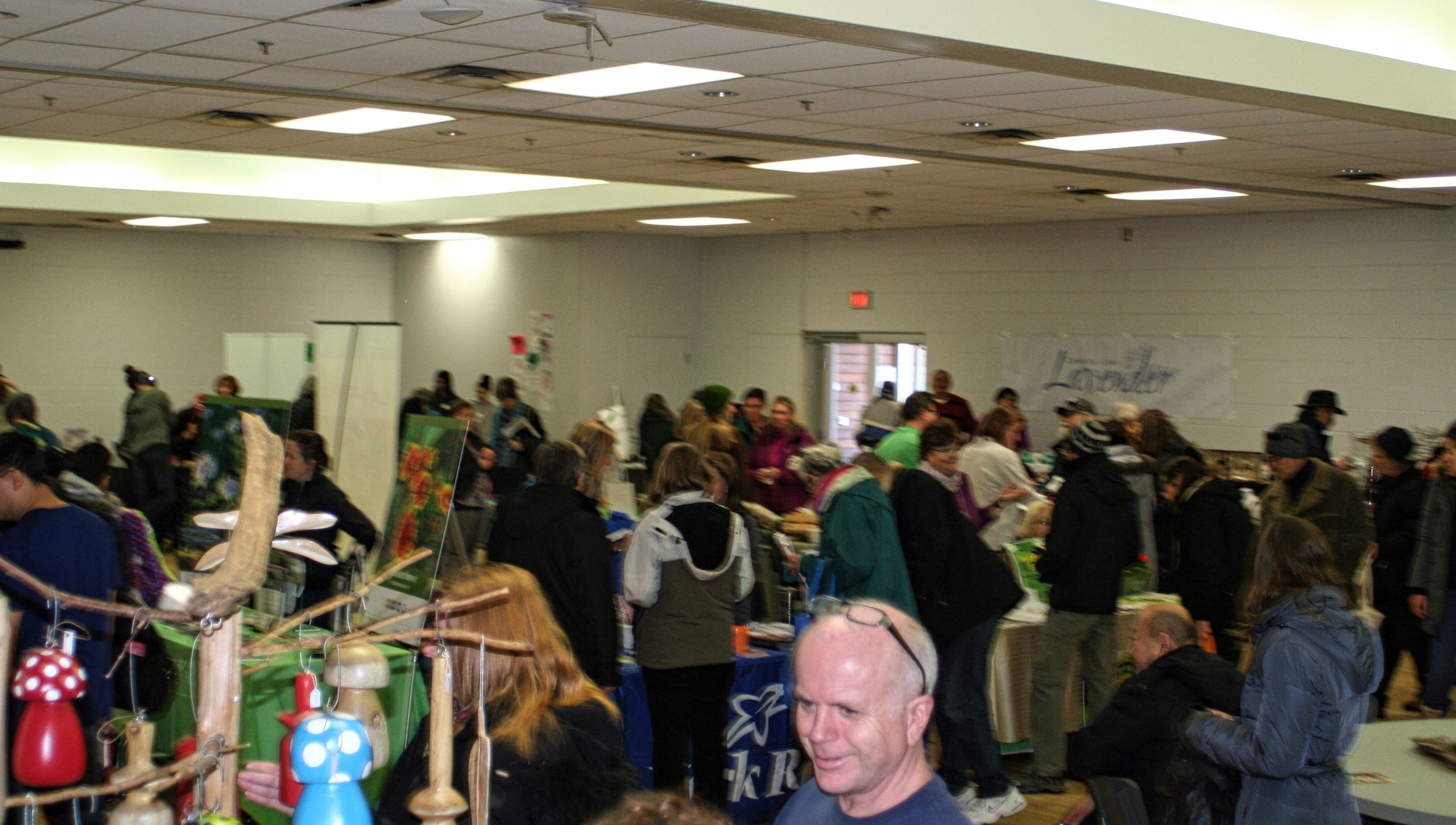 Lots of interest in York Region Food Network's 5 th Annual Seedy Saturday. … where good food takes root