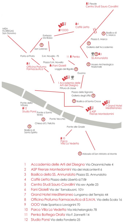 Mappa eventi Artour