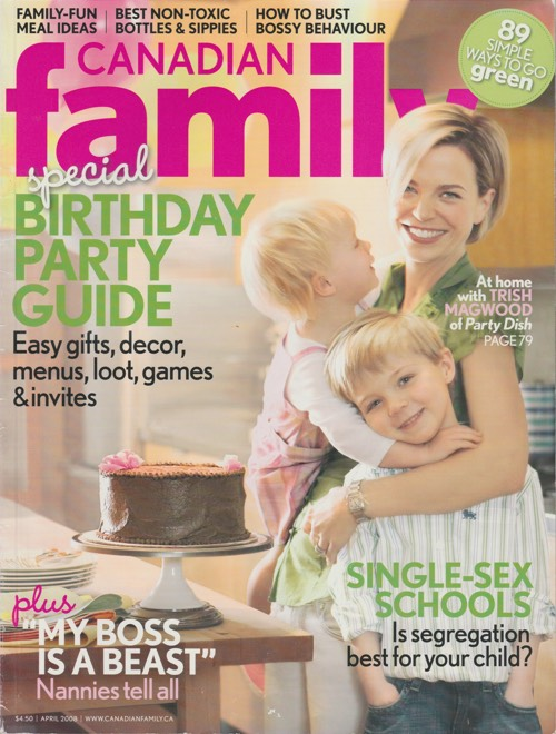 Trish Magwood featured in Canadian Family magazine