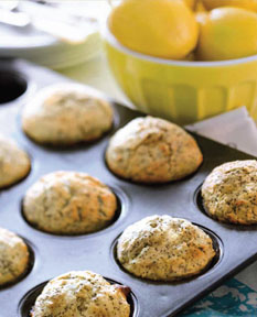 Make these simple lemon poppyseed muffins after a workout or on the weekend for the kids