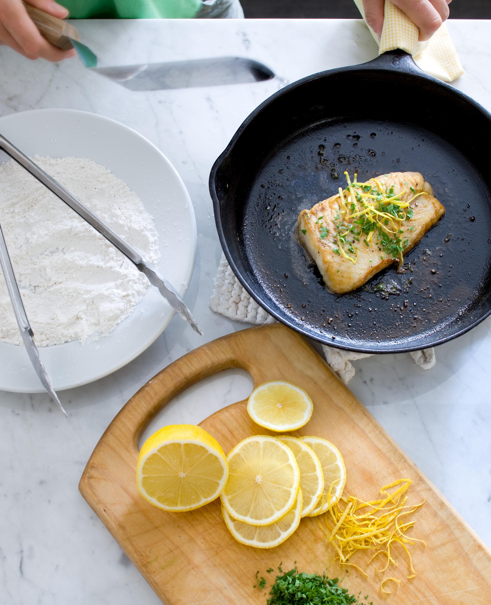 Lemon sole, a simple dish for dinner