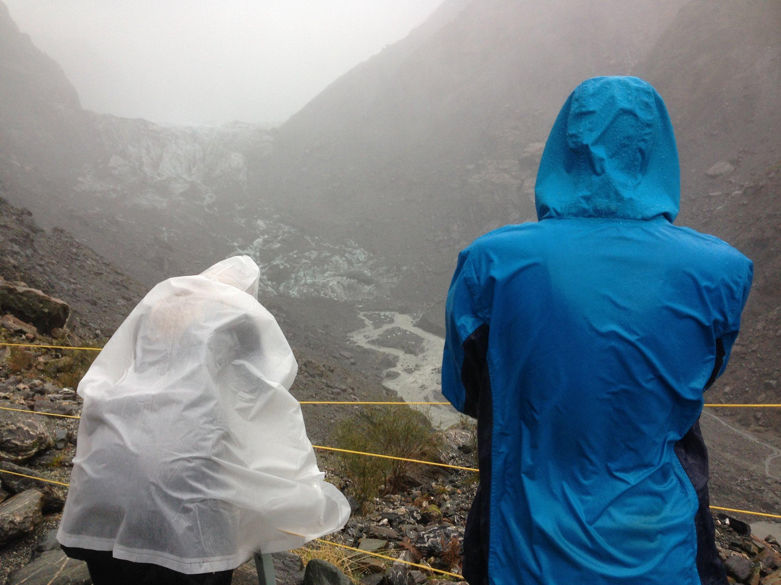 Very wet at Fox glacier