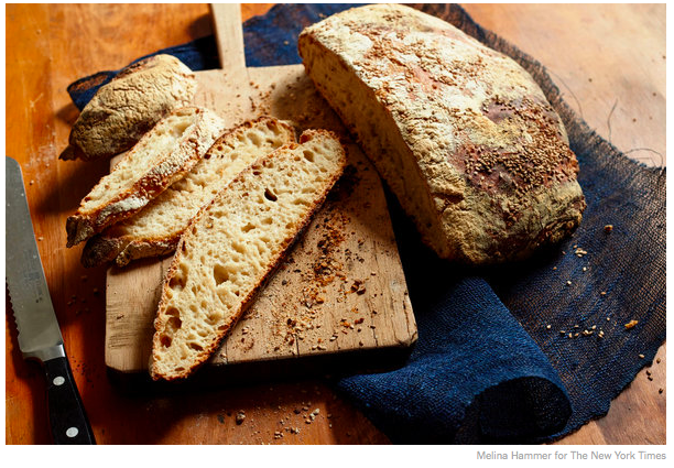 Sourdough No-Knead Bread (click for NYT Cooking recipe!)