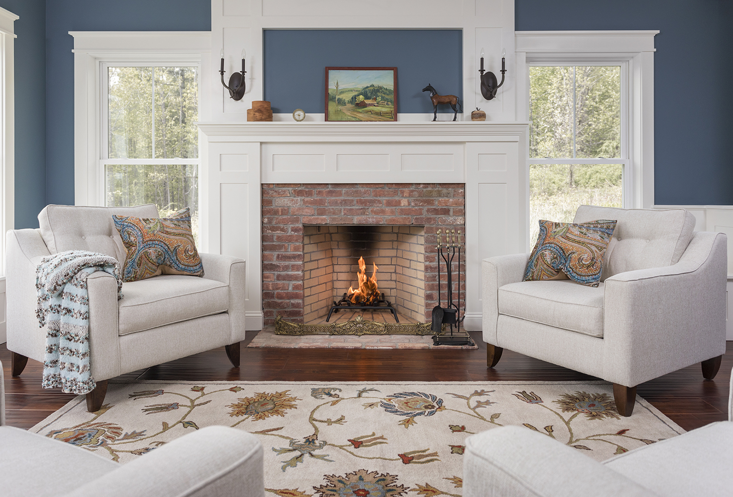New Hampshire Barn House Fireplace Sitting.jpg