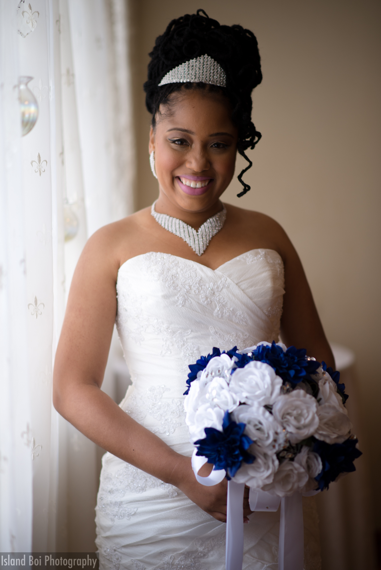 The happy and beautiful bride