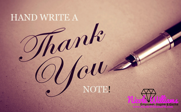 Writing thank you notes is one way of practicing attitude of gratitude.