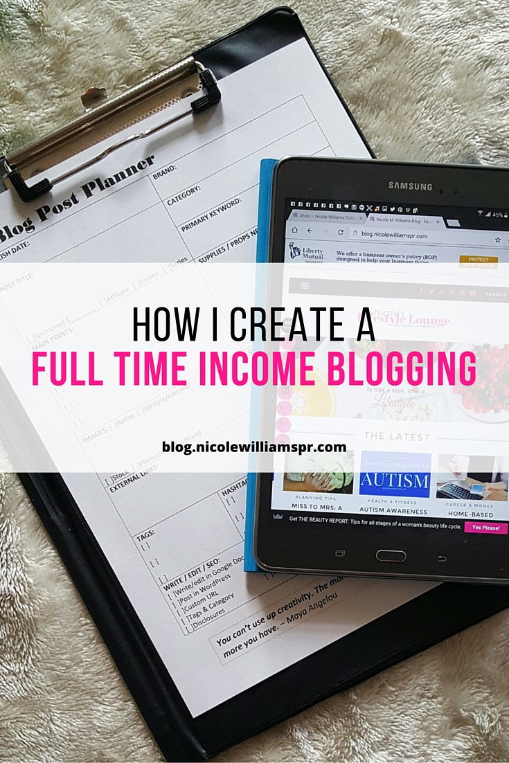 Let me show you how to use your blof as a vehicle to create a full time income. #bloggingtips #monetizeyourblog