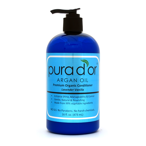 Pura d'or conditioner formulated with 99% vegetable ingredients that leaves your strands feeling nourished. #arganoil #hairtherapy